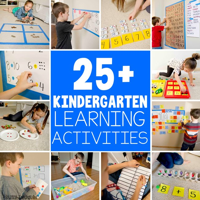 25 BEST KINDERGARTEN ACTIVITIES: Are you trying to entertain a 5-7 year old at home? Check out these hands on learning activities; at home learning; homeschool kindergarten from Busy Toddler