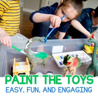 Paint the Toys Kids Art Activity