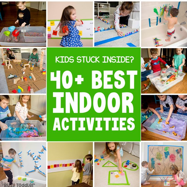 BEST INDOOR ACTIVITIES FROM BUSY TODDLER: Kids stuck inside? No school today? Try these activities from Busy Toddler