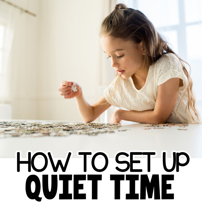 HOW TO SET UP QUIET TIME WITH KIDS: Have your kids stopped napping? Set up a quiet time for them each day to give them a break and you a break. Tips and tricks from an actual Mom - Busy toddler