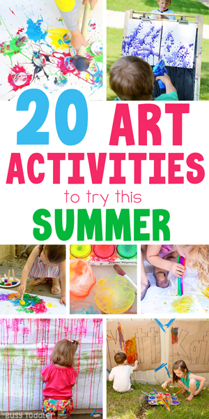 OUTDOOR ACTIVITIES FOR KIDS - Check out this awesome list of 50+ activities for kids including 20 easy summer art activities from Busy Toddler