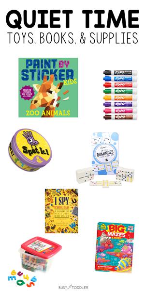MEJORES ACTIVIDADES Y SUMINISTROS DE TIEMPO TRANQUILO: Prepare a su hijo para un buen descanso cada día con estas actividades, juguetes e ideas de suministros de Busy Toddler