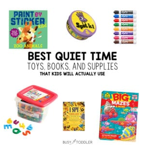 BEST QUIET TIME ACTIVITIES AND SUPPLIES: Set your child up for a great rest time each day with these activity, toy and supply ideas from Busy Toddler
