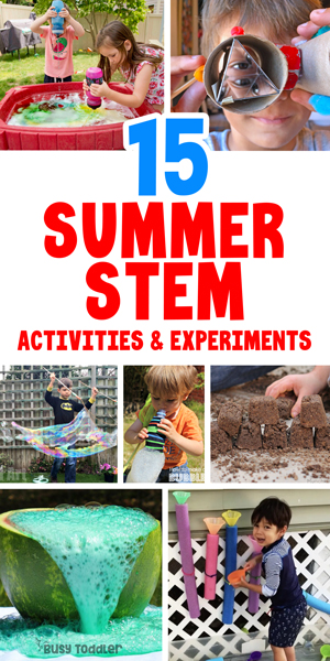 OUTDOOR ACTIVITIES FOR KIDS - Check out this awesome list of 50+ activities for kids including 15 easy summer STEM activities from Busy Toddler