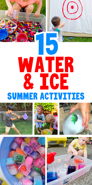 OUTDOOR ACTIVITIES FOR KIDS - Check out this awesome list of 50+ activities for kids including 15 fun water and ice activities from Busy Toddler