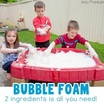 Bubble Foam Water Table Outdoor Activity