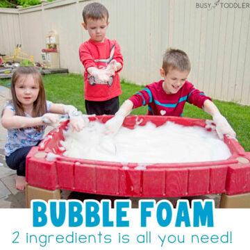 Bubble Foam Water Table Outdoor Activity