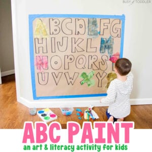 ABC PAINT MATCH: This quick and easy activity is a mix of art and literacy. An easy kids activity thats perfect to do at home from Busy Toddler