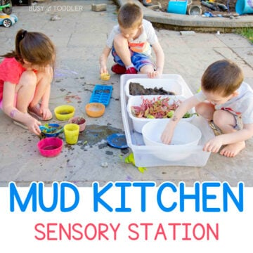 DIY Mud Kitchen Outdoor Activity