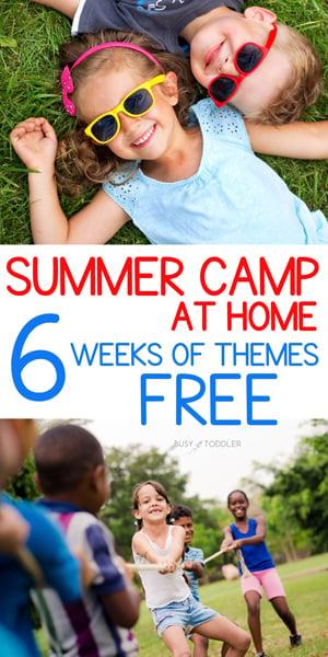 CAMPAMENTO DE VERANO EN CASA CON NIÑO OCUPADO: Un fantástico recurso gratuito de 6 semanas de actividades para niños; actividades temáticas para el verano; verano con Busy Toddler
