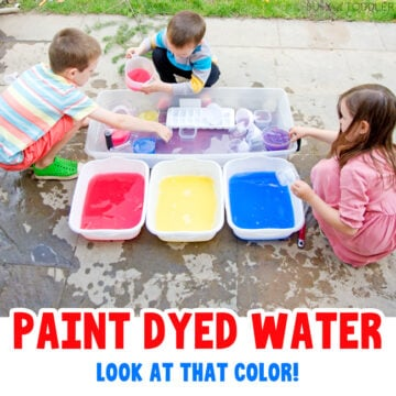 Paint Dyed Water: Outdoor Sensory Activity