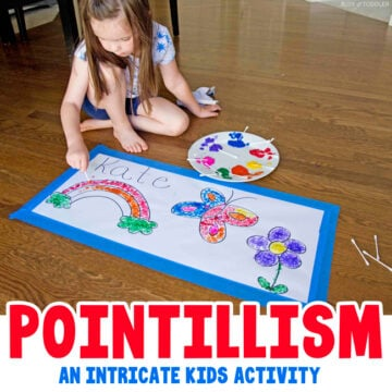 Pointillism Art Activity for Kids