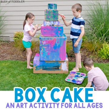 Painted Box Cake Kids Activity