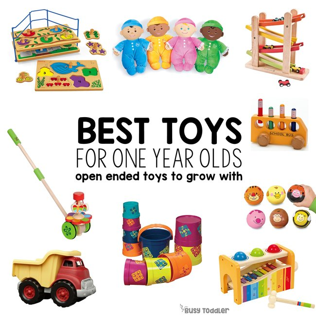 BEST TOYS FOR ONE YEAR OLDS: What are the best toys to buy a one year old? Check out this amazing list of open ended ideas for 12 month to 24 month olds from Busy Toddler.