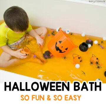Halloween Bath Activity for Toddlers