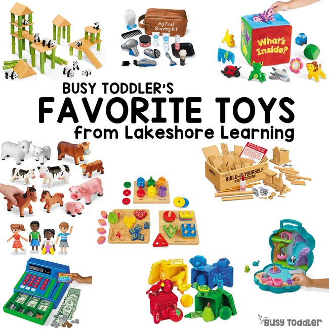 busy toddler's favorites from Lakeshore learning