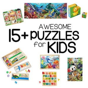 THE BEST PUZZLES FOR KIDS: Looking for the best puzzles to buy for your kids? Check out this list for ages 2-8 years old.
