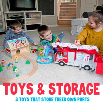 Toys that organize: 3 toys with self-storage