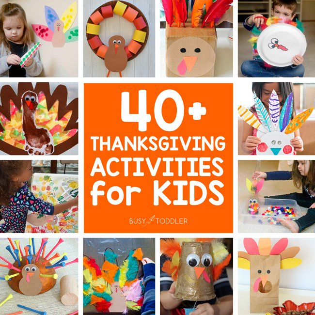 40+ Thanksgiving Activities For Toddlers & Preschoolers - Busy Toddler