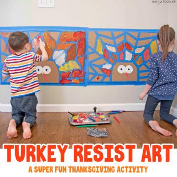 Turkey Tape Resist Art Activity