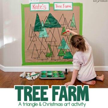 Paint a Christmas Tree Farm – Art Activity