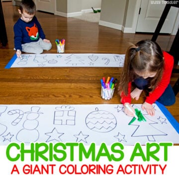 Giant Christmas Art Activity