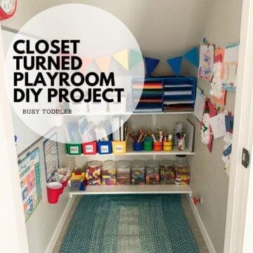 Closet to Playroom DIY Project