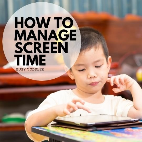Looking for tips on how to manage screen time with kids? Check out this post from Busy Toddler with real, actual parenting tips and advice on kids and TV.