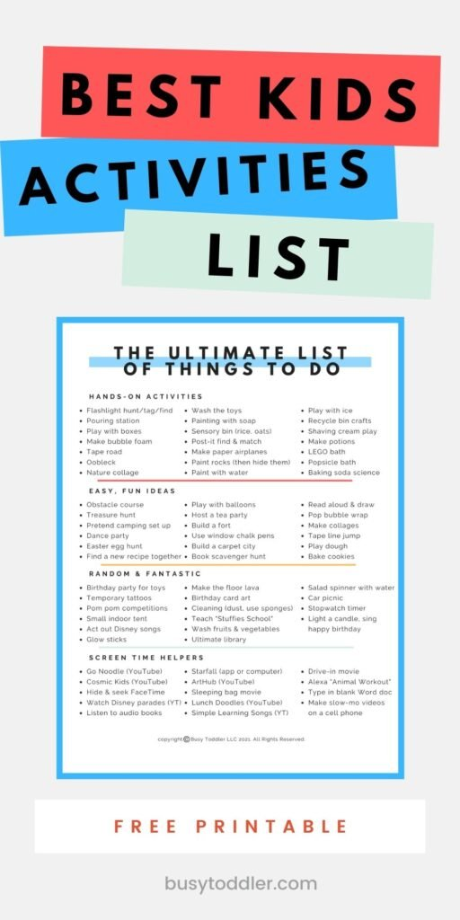 The ultimate list of activities for kids - 65+ genius ideas to try on boring days