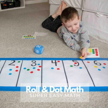 Roll and Dot Preschool Math Activity