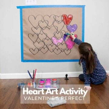Valentine's Day Heart Art Activity