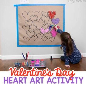 Valentine's Day Heart Art Activity