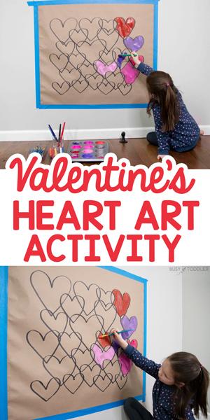 VALENTINE'S DAY HEART ART ACTIVITY: A quick and easy Valentine's Day art activity from Busy Toddler - have fun making this overlapping art activity for preschoolers and kindergarteners
