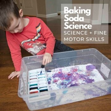 Baking Soda Science Activity for Toddlers and Preschoolers