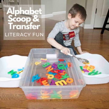 Alphabet Scoop and Transfer Literacy Activity