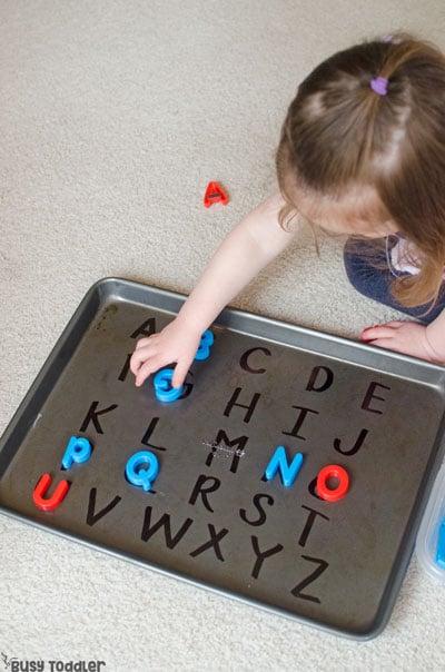 Easy alphabet activity for preschoolers
