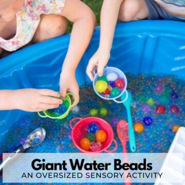Giant Water Bead Sensory Bin