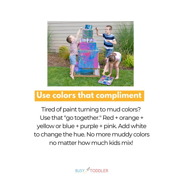 HOW DO YOU PAINT WITH KIDS? It's all about having the right tips and tricks to make painting with kids doable and fun again. FROM BUSY TODDLER