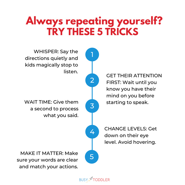 Kids not listening? Try these tricks!