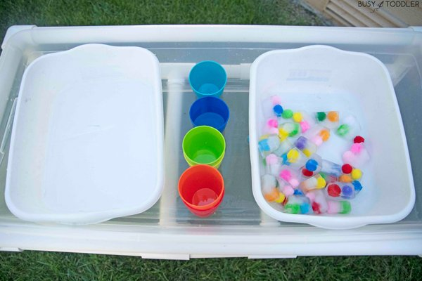 Frozen pom pom balls- they're awesome