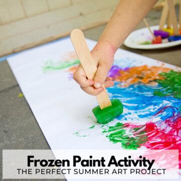 Frozen Paint Summer Activity