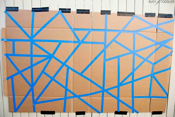 an awesome tape resist art activity for kids this summer