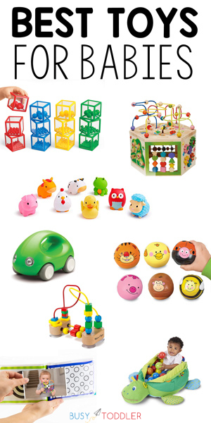 BEST TOYS FOR BABIES: Check out this list from Busy Toddler for the best toys to gift to a baby.