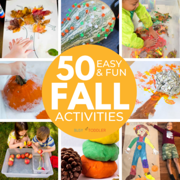 50+ Awesome Fall Activities for Toddlers