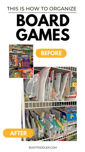 HOW TO ORGANIZE BOARD GAMES: This is the miracle system for organizing board games for kids. You've got to try this new organization system for kids toys.
