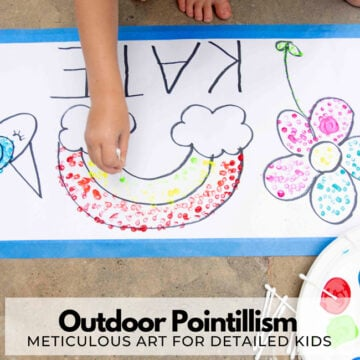Outdoor Pointillism Art Activity