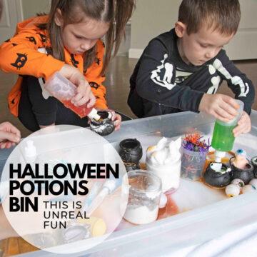 Halloween Potions Bin: Science Activity for Kids