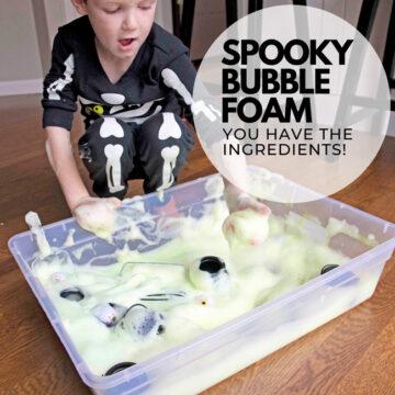 Halloween Bubble Foam Sensory Bin