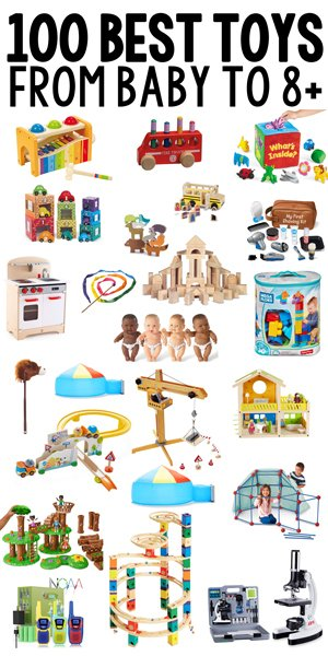 BEST TOYS FOR KIDS: Here it is - the most complete list of open ended toys for kids; best toys for one year olds; best toys for toddlers; best toys for preschoolers; best toys for five year old; open-ended toys; good toys; holiday gift guide; Christmas gifts for kids from Busy Toddler