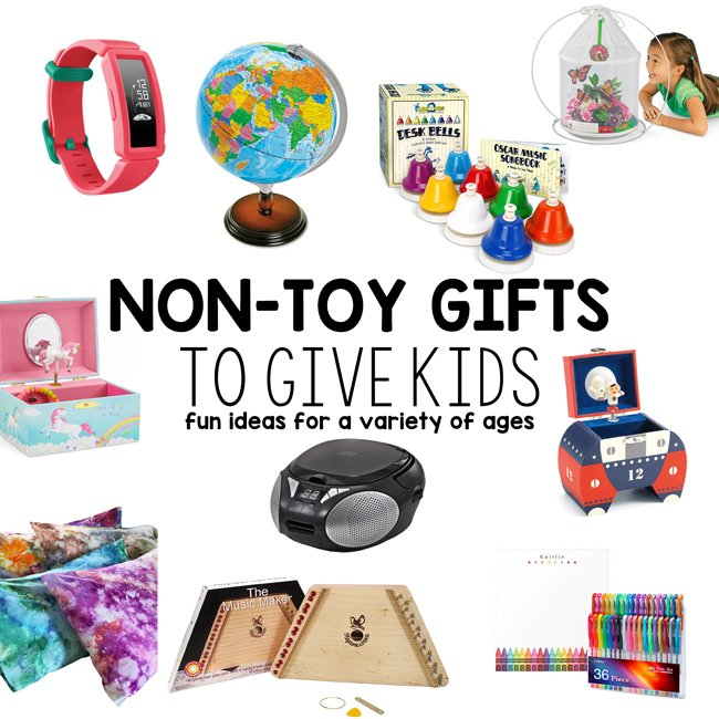 NON-TOY GIFTS FOR KIDS: What are the best non-toy gifts for kids? Check out this list of really unique gifts for kids that are not toys - these gifts are great for all ages.